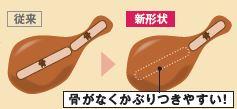 「黄金チキン ローストレッグ」は、上もも部分の骨を手作業で1本ずつ抜くことでそのままかぶりつくことができます