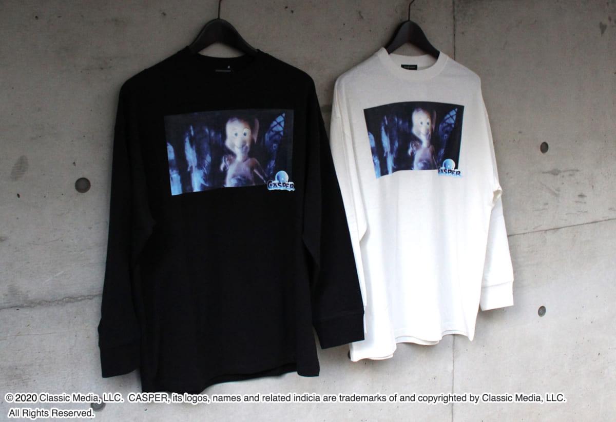 【キャスパー】ボックスデザイン/ロングスリーブTシャツ