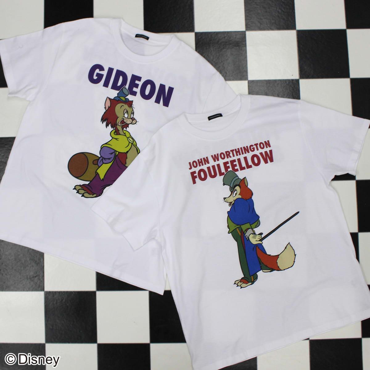 【ディズニー/ピノキオ】正直ジョン/Tシャツ、ギデオン/Tシャツ