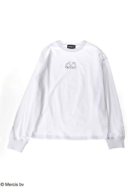 miffy(ミッフィー)刺繍ロングTシャツ2