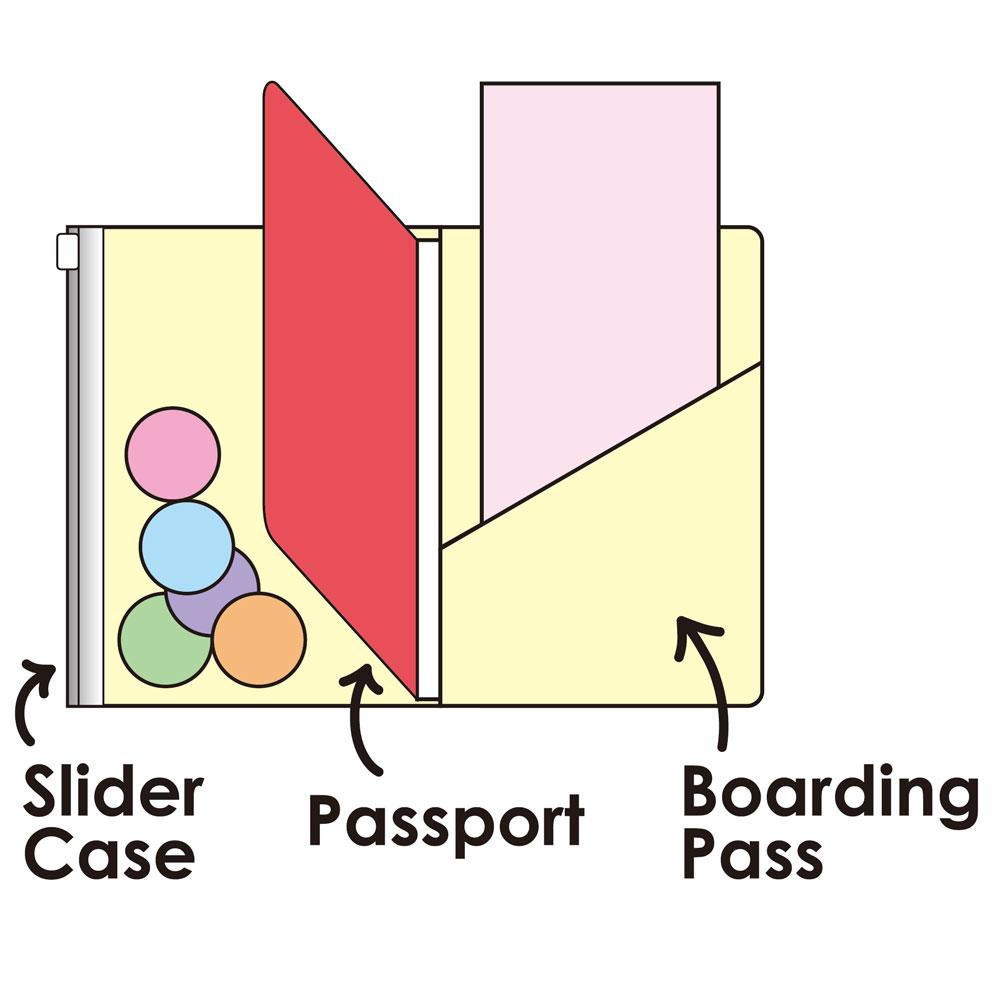 パスポートカバー 展開図