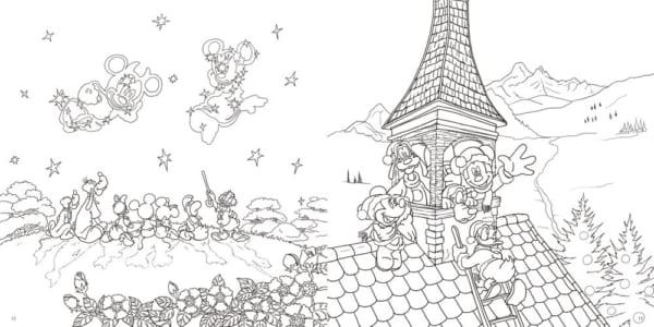 大人ディズニー 夢の世界へ 素敵な塗り絵レッスンブック8