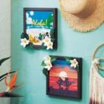 ハワイアンデザインのフェイクグリーンアートボード
