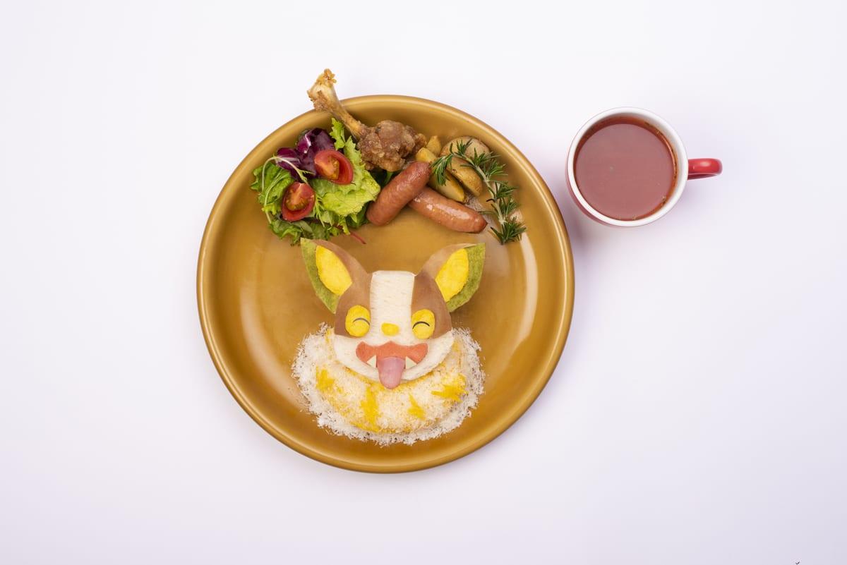 イヌヌワン♪今日もごきげんワンパチとサンドイッチピクニックプレート