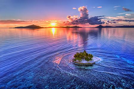 やのまん KAGAYA ジグソーパズル 小さな楽園(JEEP島の夕日)