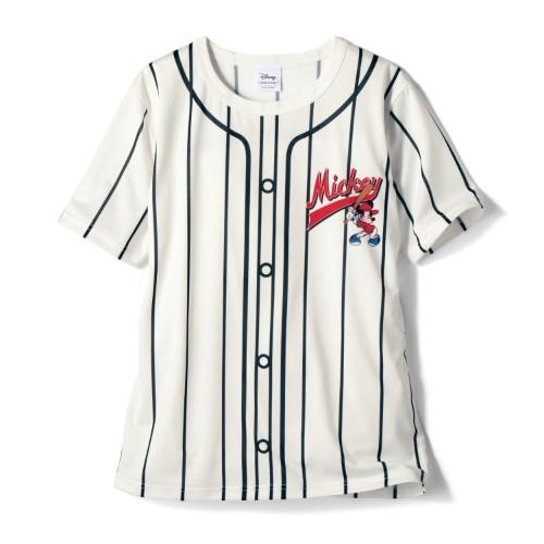 ユニフォーム風Tシャツ「ミッキー&フレンズ」 オフホワイト