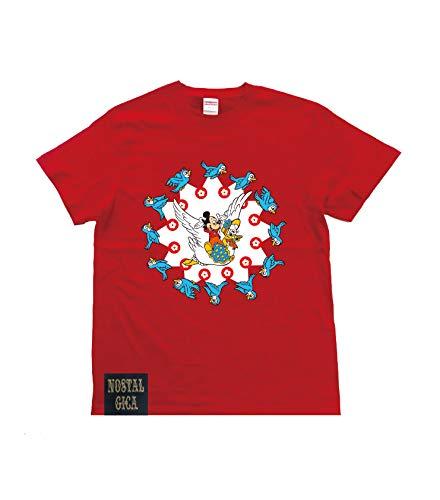ノスタルジカ Tシャツ バードサークル 赤