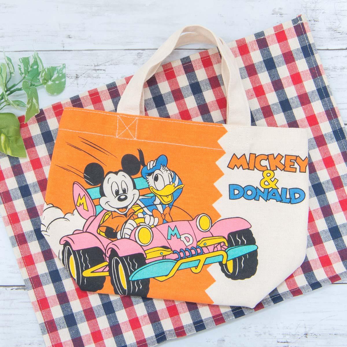 スモール・プラネット ディズニー「マチ付バッグ」ミッキーマウス&ドナルドダック