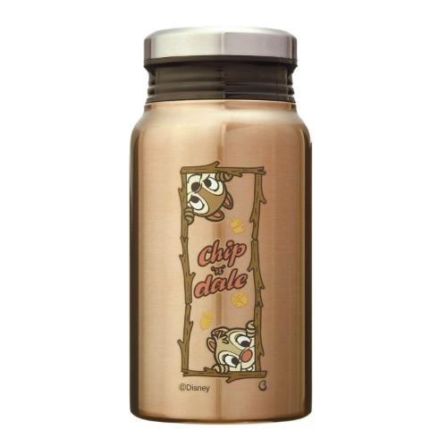 ミルク瓶のような形の保温保冷サーモボトル 400ml チップ&デール