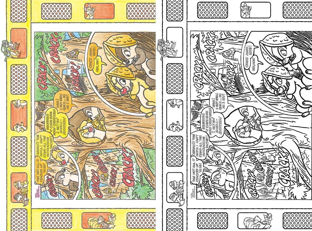 大人ディズニー 幸せポストカード塗り絵4