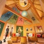 「NARUTOコラボルーム『火影の別荘』」室内