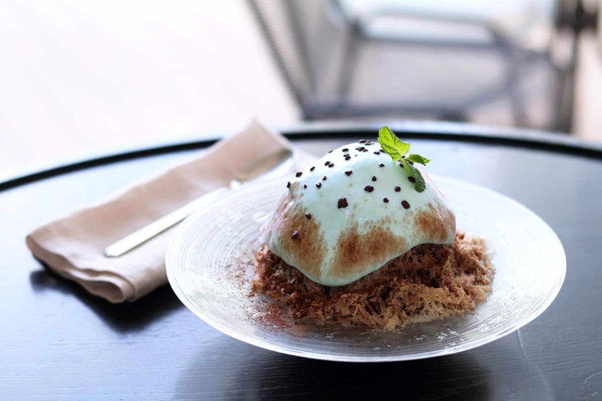 リバーサイドカフェ シエロ イ リオ「濃厚チョコレートとミントのかき氷」