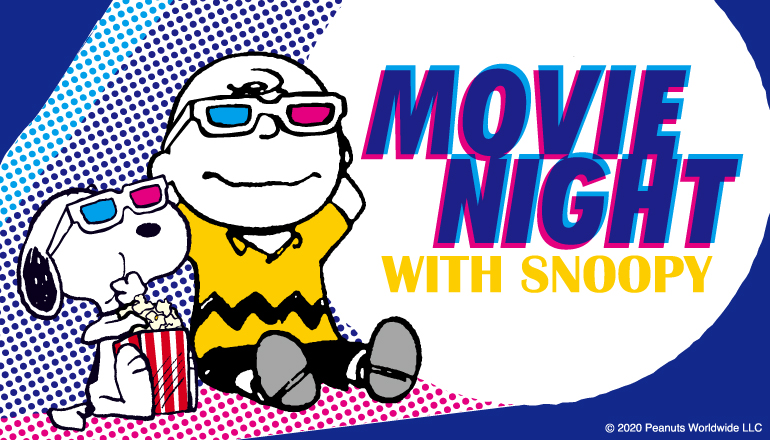 「MOVIE NIGHT WITH SNOOPY」ロゴ