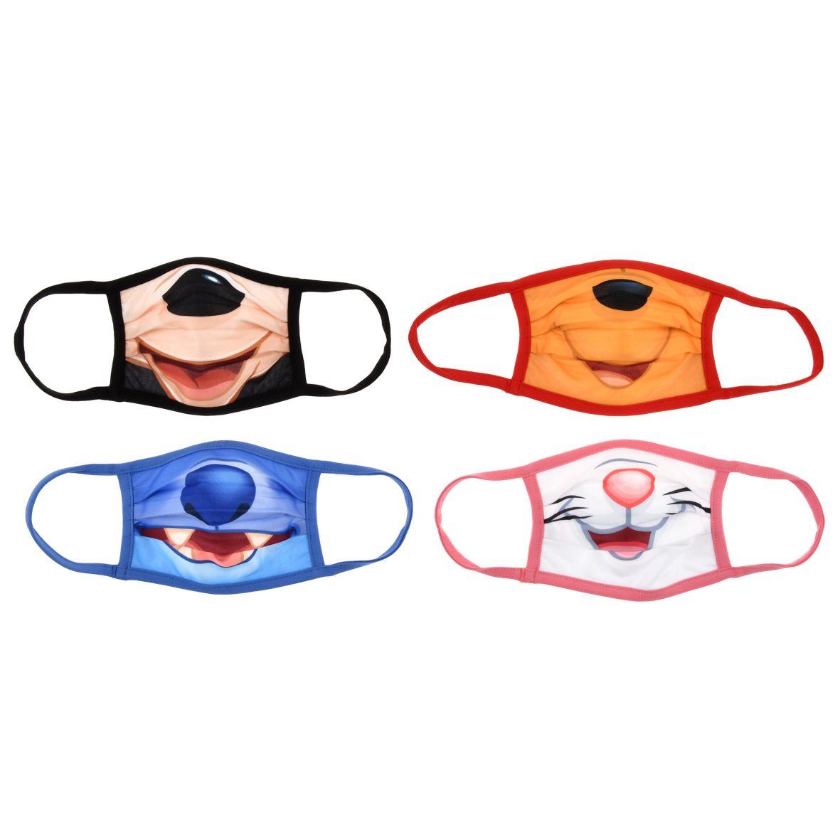 マスク(4枚セット)<ミッキー、スティッチ、プー、マリー>