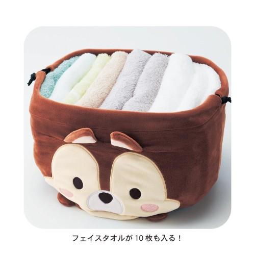 のびのび巾着収納袋 収納イメージ タオル