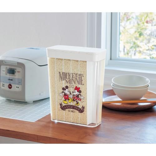冷蔵庫のポケットに入る 1合仕分け米びつ(選べるキャラクター)ミッキー&ミニー