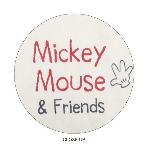 後ろプリントビッグチュニック ミッキー&ミニー&ドナルド デザインアップ
