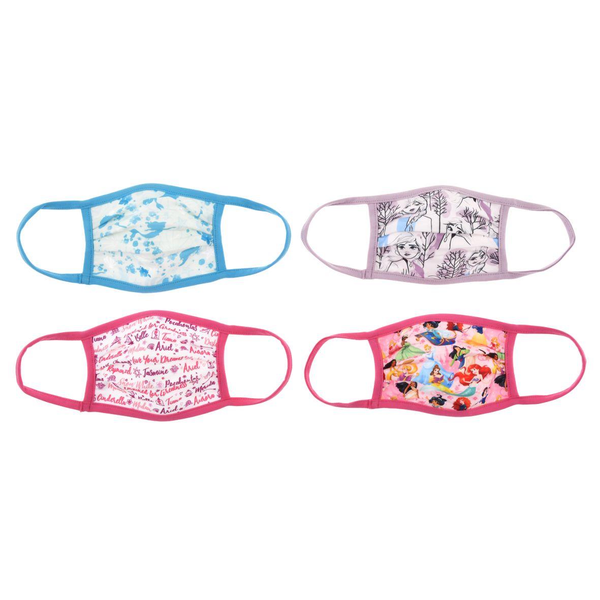マスク(4枚セット)<ディズニープリンセス、アナ&エルサ>