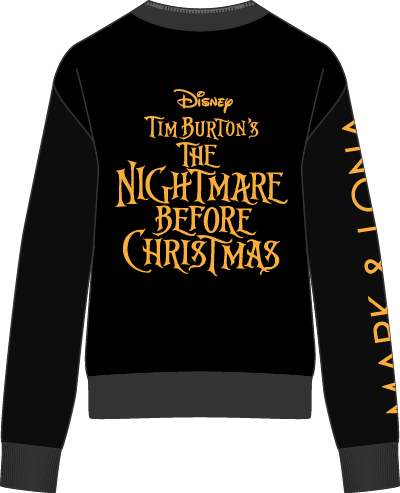 The Nightmare Before Christmas Wind Stopper Knit Outer バックスタイル