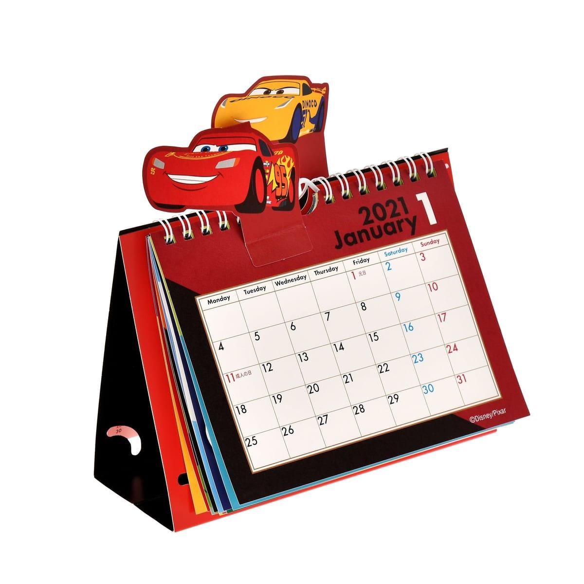 卓上カレンダー ピクサーキャラクター