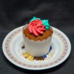 東京ディズニーランド『美女と野獣』カップケーキ(キャラメル風味)、スーベニアプレート付き 写真