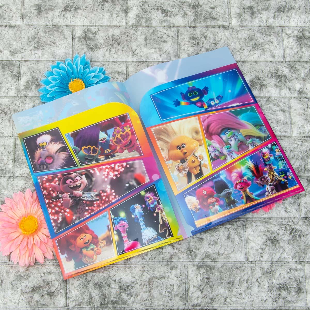インロック 映画『トロールズ ミュージック★パワー』グッズ Wポケットクリアファイル2