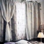 キラキラ箔プリントの2重遮光・遮熱カーテン