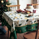 撥水テーブルクロス クリスマス 使用イメージ