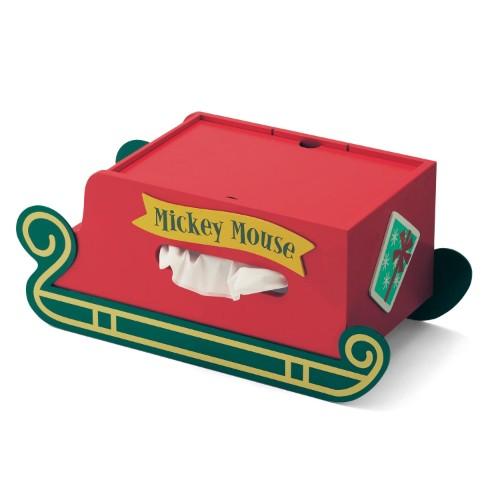 クリスマスデザインの卓上小物収納ボックス バックスタイル