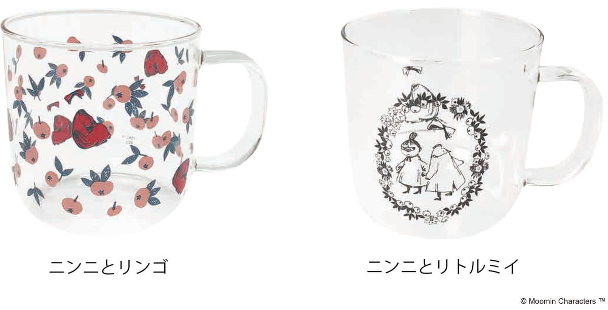 耐熱ガラスマグ ニンニとリンゴ/ ニンニとリトルミイ