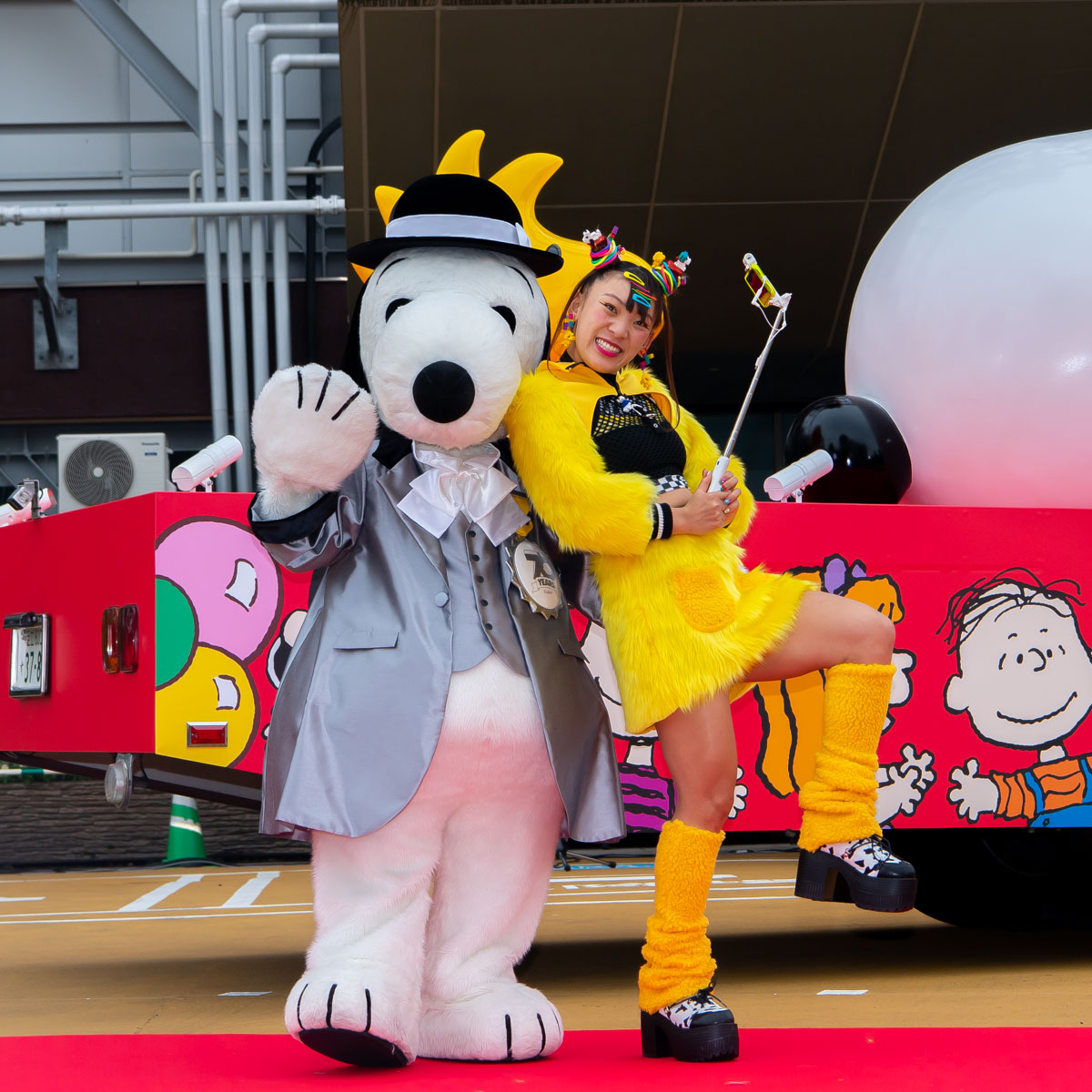 SNOOPY HAPPINESS FLOAT(スヌーピー ハピネスフロート)出発式 集合