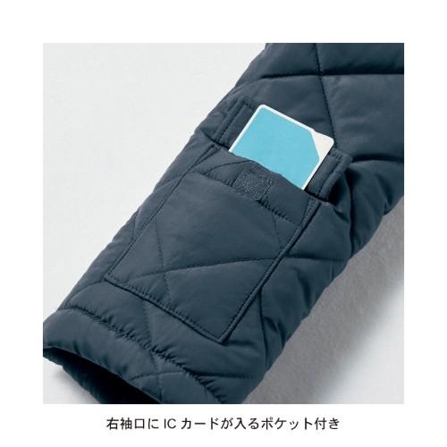 ポケットいっぱい中綿キルトコート 袖裏