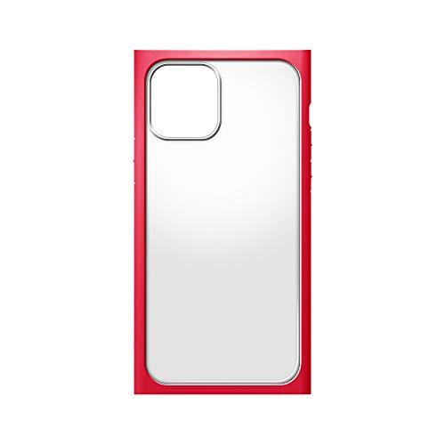iPhone12用ガラスフタケーススクエアタイプ レッド2