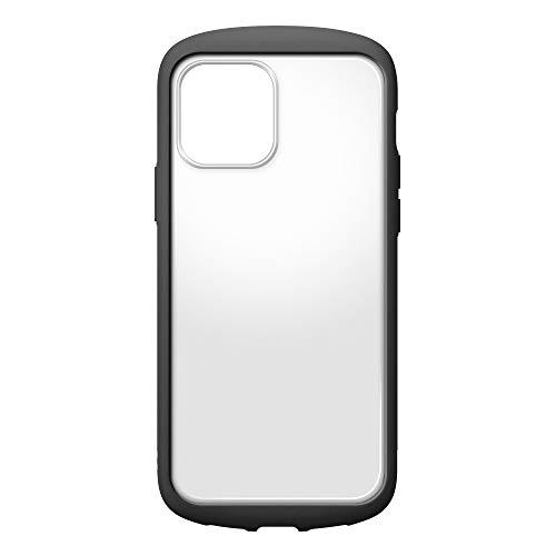 iPhone12用ガラスフタケースラウンドタイプ ブラック2