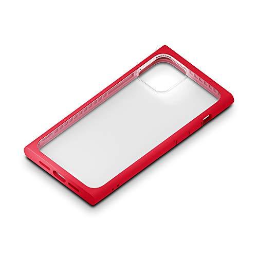 iPhone12用ガラスフタケーススクエアタイプ レッド