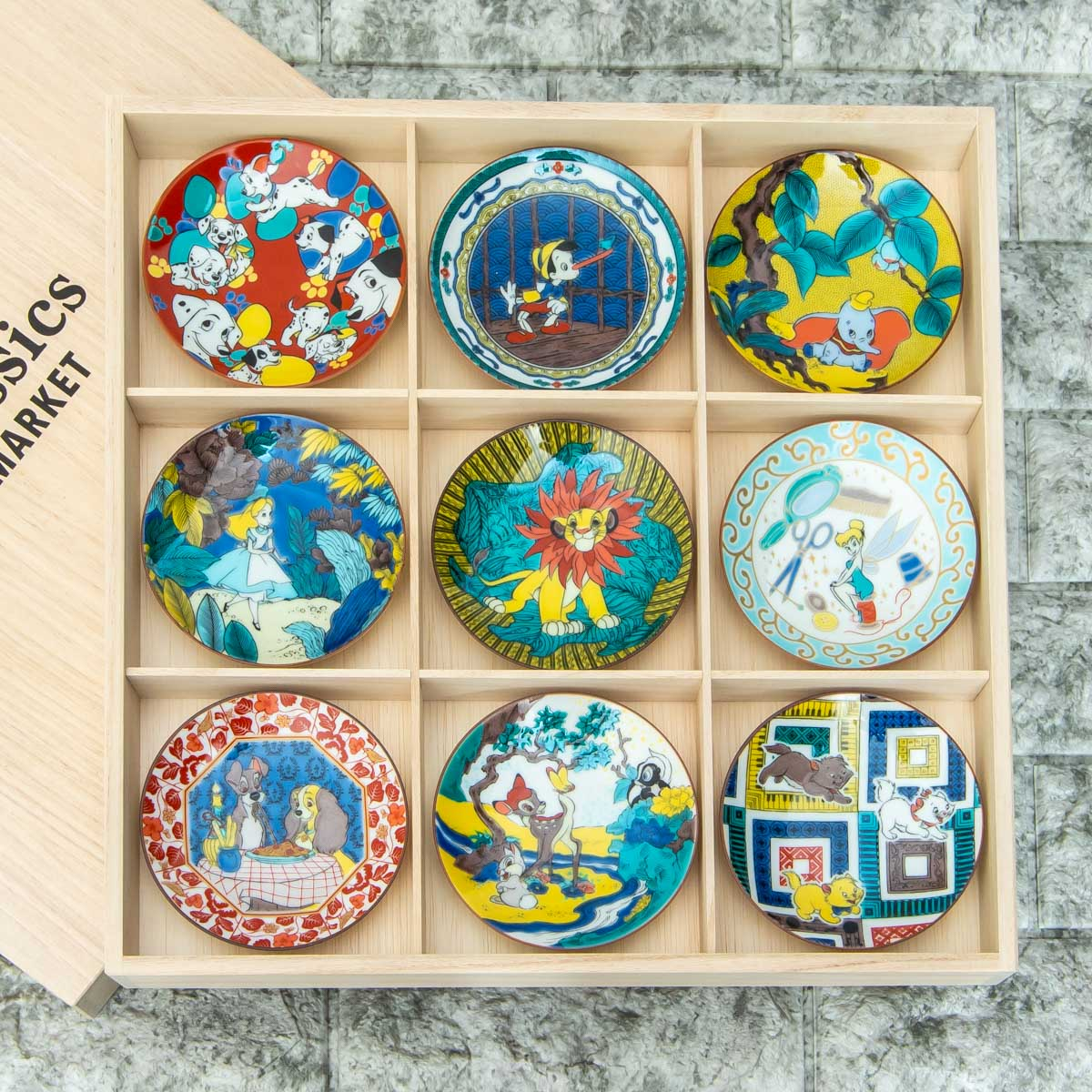 Disney Classics MARKET(ディズニー クラシックス マーケット)「九谷焼豆皿セット」集合