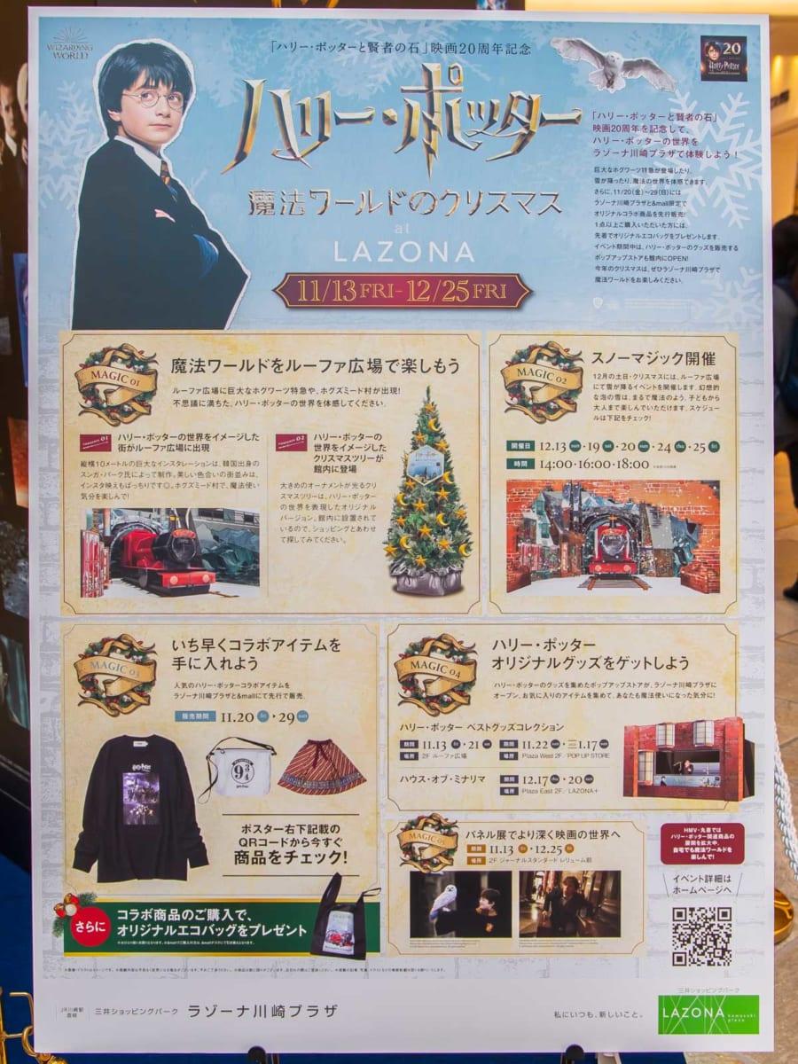 ラゾーナ川崎プラザ「ハリー・ポッター魔法ワールドのクリスマス at LAZONA」パネル