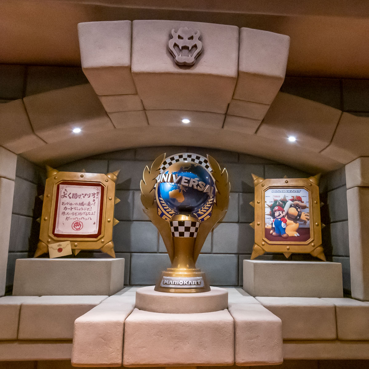 ユニバーサル・スタジオ・ジャパン『SUPER NINTENDO WORLD(スーパー・ニンテンドー・ワールド)』アトラクション『マリオカート 〜クッパの挑戦状〜』トロフィールーム3