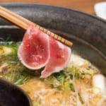 炙り葱の極み鴨すき 鍋