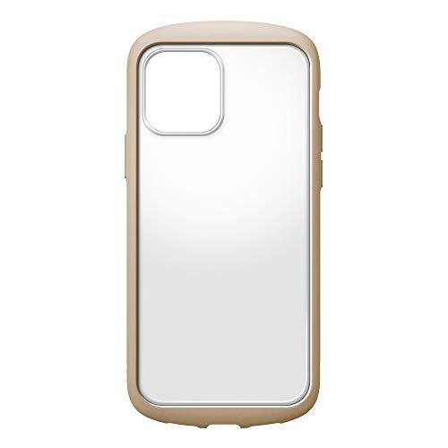 iPhone12用ガラスフタケースラウンドタイプ ベージュ2