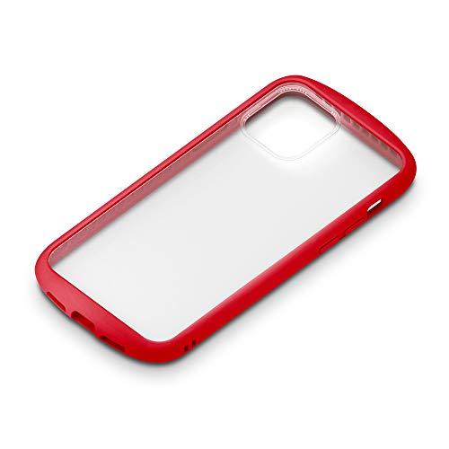 iPhone12用ガラスフタケースラウンドタイプ レッド