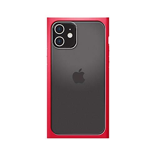 iPhone12用ガラスフタケーススクエアタイプ レッド3