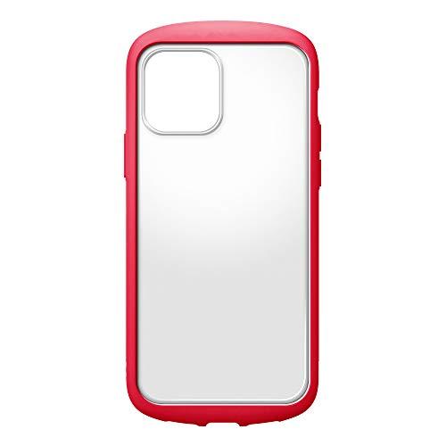 iPhone12用ガラスフタケースラウンドタイプ レッド2
