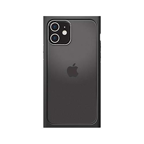iPhone12用ガラスフタケーススクエアタイプ ブラック3