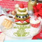 カフェ・カイラ「クリスマスツリーパンケーキ」