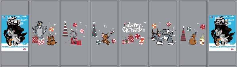 赤レンガ倉庫_クリスマスデザイン ガラスボックス(装飾イメージ)