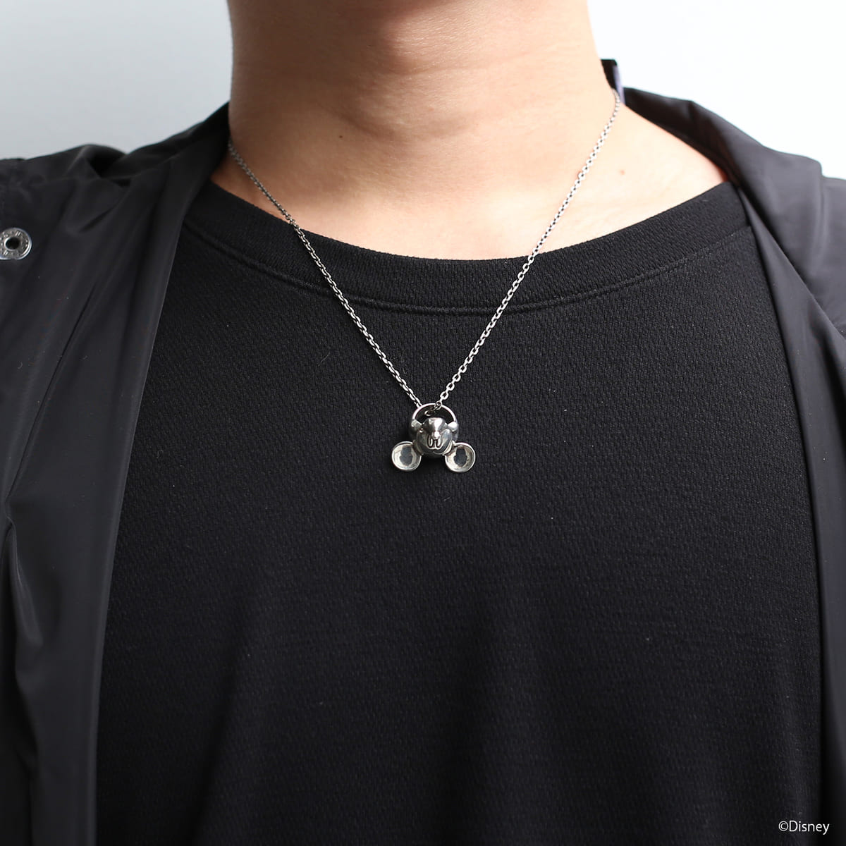 """""""MICKEY"""" FACE NECKLACE メンズ シルバー"""
