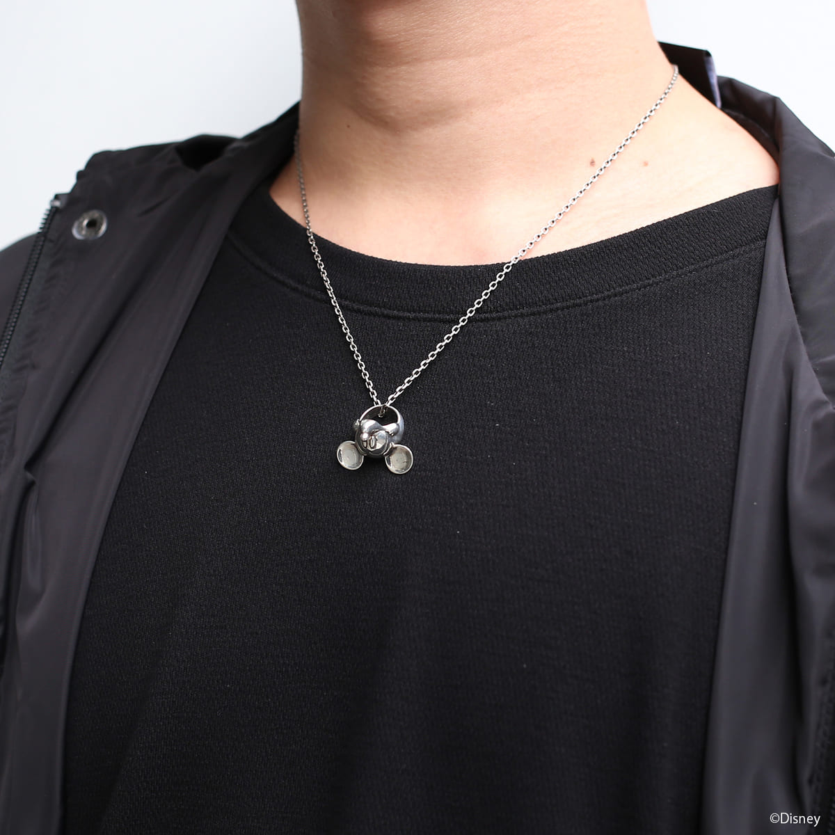 """""""MICKEY"""" FACE NECKLACE メンズ シルバー02"""