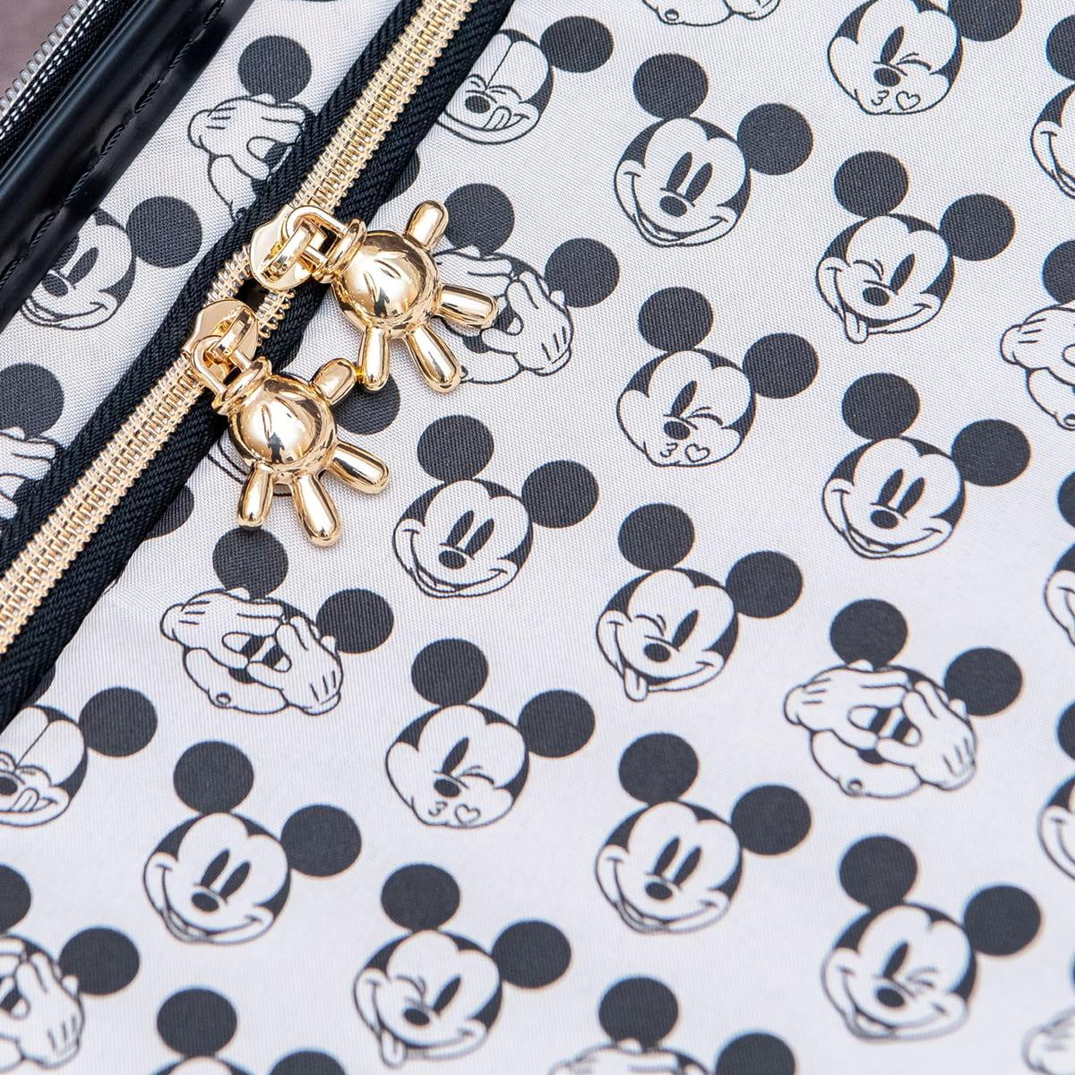 シフレ ディズニー「ミッキーマウス」スーツケース ブラック ファスナー