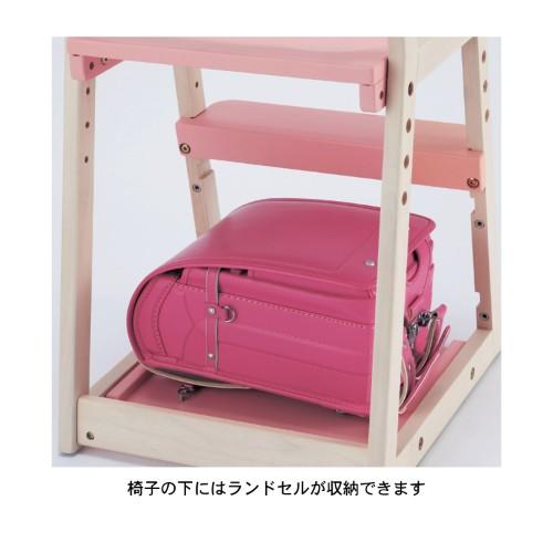 ランドセルが置ける棚付き座面可動式チェア 収納イメージ